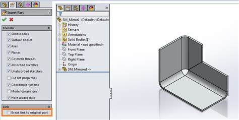 solidworks flat pattern mirror solidworks sheet metal and get flat pattern
