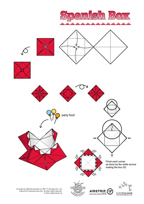 Origami Boxes Pdf - papercrane australian origami diagrams abc sunday arts