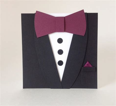 suit and tie card template formal invitation black tie event image collections