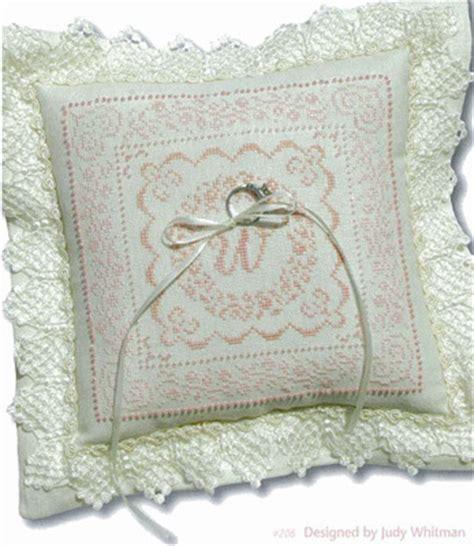 giulia punti antichi wedding rings pillow cross stitch