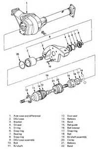 Isuzu Trooper Rear Axle Repair Guides Front Drive Axle Halfshaft Bearing