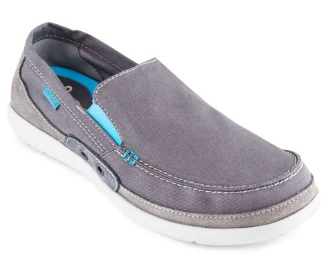 Crocs Walu Accent Charcoal crocs s walu accent loafer charcoal electric blue