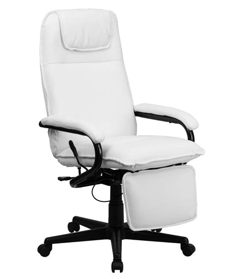 cheap reclining office chair flash furniture high back white leather executive