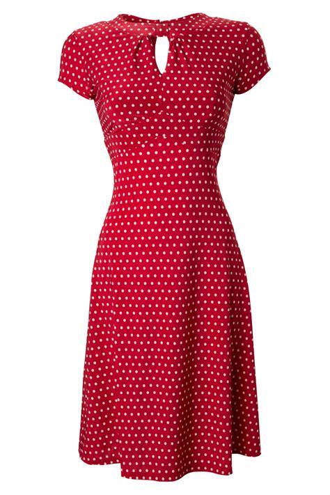 pattern for vintage tea dress 40s juliet classy red polka dot vintage flared tea dress