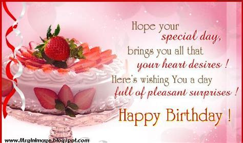 Happy Birthday Wishes Picture Message Pictures Of Happy Birthday Quotes Message Message In Image