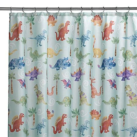 dino curtains dinosaur friends shower curtain buybuy baby