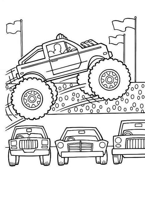 monster truck monster truck jumps  cars coloring