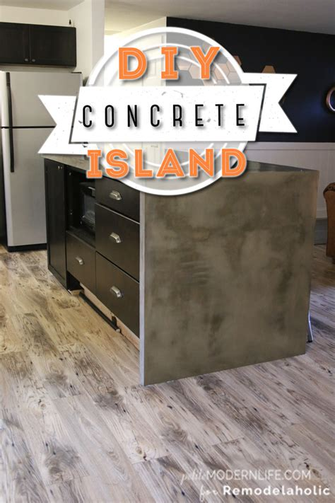 Diy Concrete L by Remodelaholic Diy Concrete Kitchen Island Reveal How To