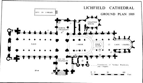 Canterbury Cathedral Floor Plan by Lichfield The Cathedral British History Online