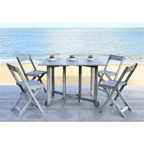 Safavieh Arvin Gray Wash 5 Piece Patio Dining Set PAT7001B