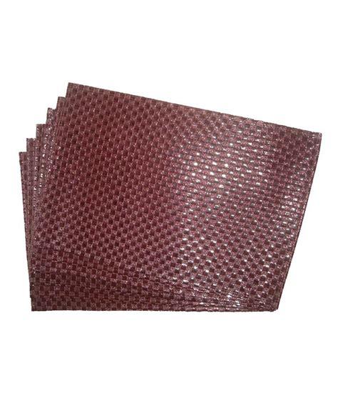 ritwik purple contemporary rexine set of 6 pcs table mats