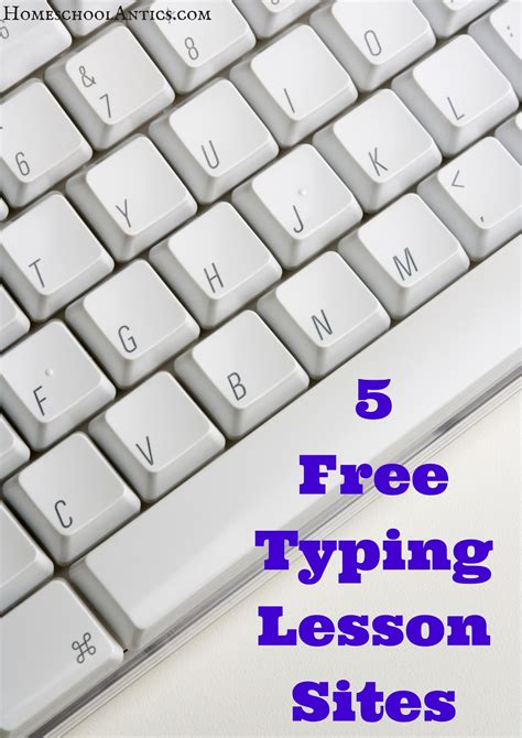 best free typing lessons 5 free typing lesson homeschool antics