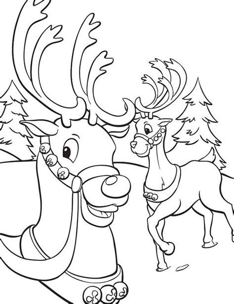 Winter Deer Coloring Page | deer winter scenes coloring coloring pages