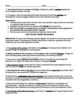 prestwick house vocabulary sentence worksheets for prestwick house latin greek roots iv