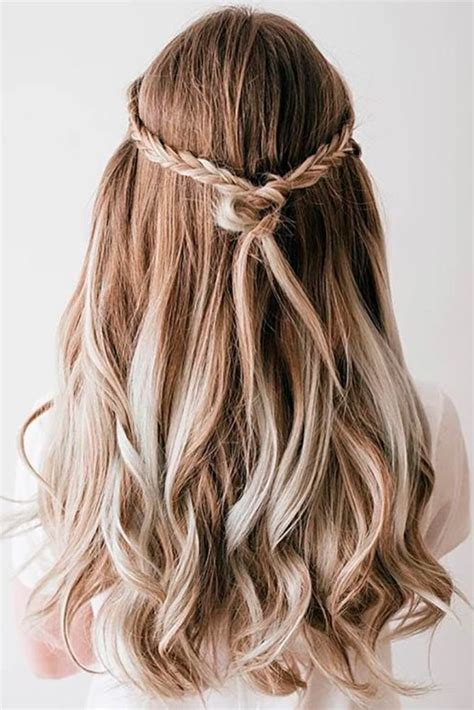 homecoming hairstyles down try 24 half up half down prom hairstyles prom hairstyles