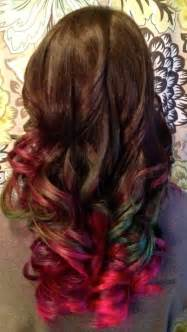 multi colored hair ideas multi color ombre hair ideas