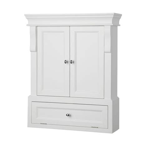 bathroom storage cabinet foremost naples 26 1 2 in w x 32 3 4 in h x 8 in d