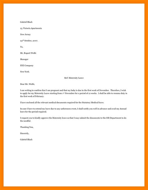 letter format for leave request leave approval letter for employee choice image