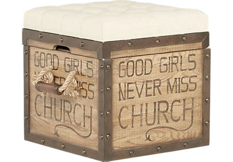 eric church highway to home heartland falls brown eric church highway to home heartland falls brown accent storage ottoman ottomans wood
