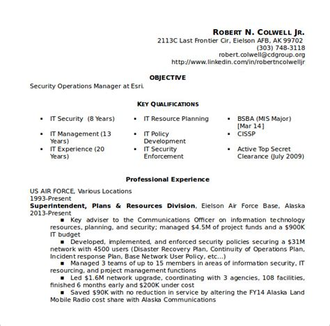 sle security resume 11 free documents in pdf word