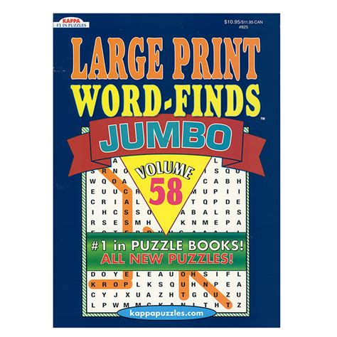 kappa jumbo large print word finds puzzle book