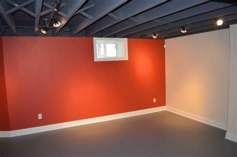 Painting Basement Ceilings by Painting The Basement Ceiling Round The House Pinterest