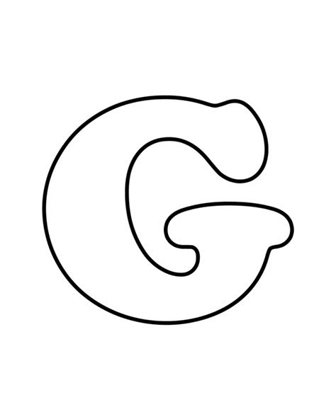coloring pages of letter g bubble letter g colouring pages