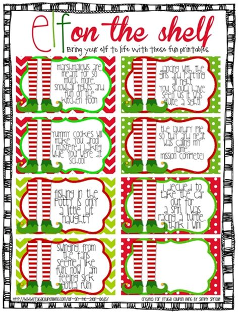 free printable elf on the shelf book free elf on the shelf printable notes