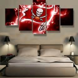 Home Decor Tampa 5 Pieces Tampa Bay Buccaneers Sports Team Logo Modern Home