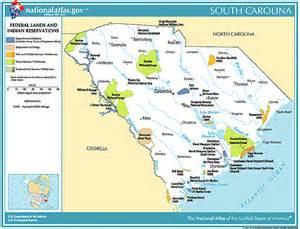 carolina lands map printable maps federal lands