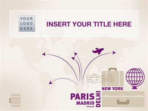 Travel Themed Powerpoint Template travel template for powerpoint and impress