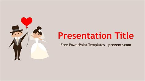 free wedding couple powerpoint template prezentr