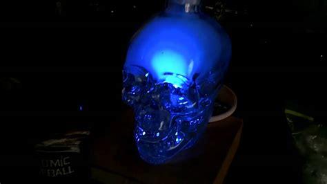 Crystal Skull Vodka Hookah With Diffuser With Blue Led Skull Lights