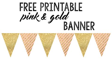 printable gold banner birthday party archives paper trail design