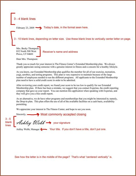 Business Letter Format professional business letter sle letters free