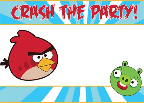 your free angry birds invitations