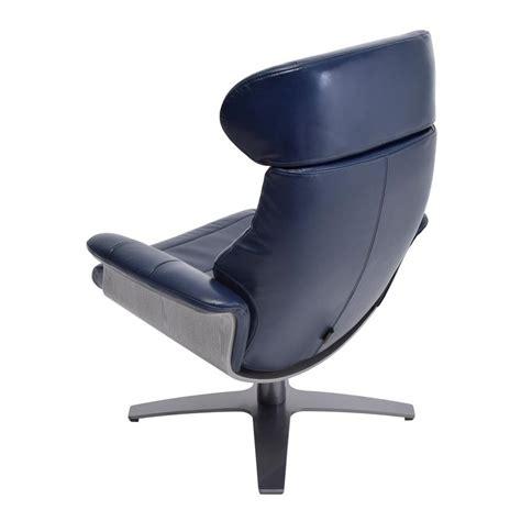 Enzo Dark Blue Leather Swivel Chair El Dorado Furniture Enzo Swivel Chair