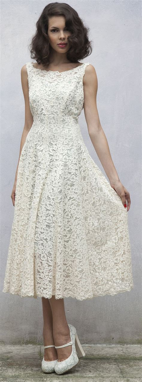 25  best ideas about Mid length wedding dresses on