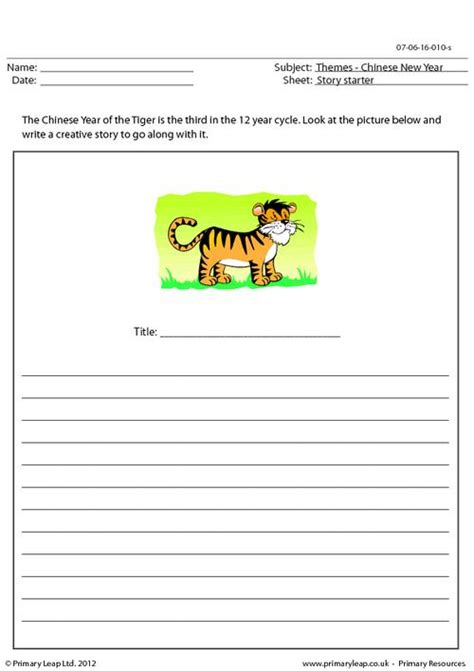 primary resources new year story primaryleap co uk story starter year of the tiger
