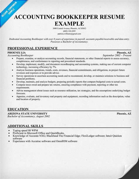 Resume Example: Bookkeeper Resume Sample Bookkeeper Resume