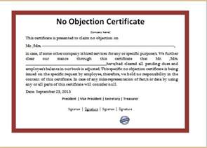Non Certification Letter ms word no objection certificate template word amp excel