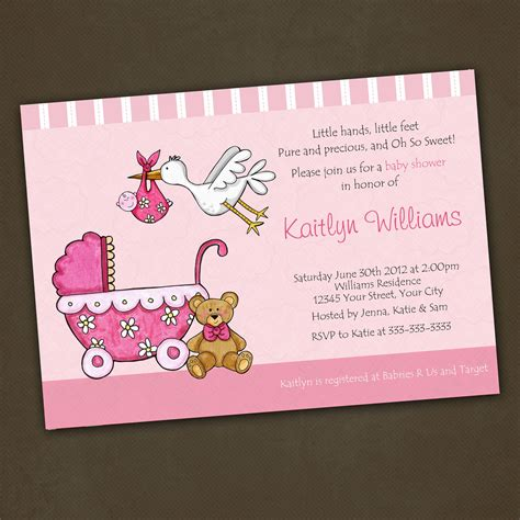 themes in an unknown girl photo baby shower invitations ideas homemade image