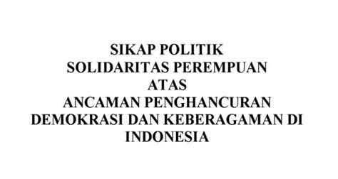 Sjahrir Politik Dan Pengasingan Di Indonesia sikap politik solidaritas perempuan atas ancaman
