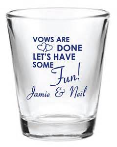 Personalized Glasses For Wedding Favors by 96 Personalized 1 5oz Wedding Favor Glass By Factory21