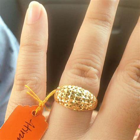 Cincin Emas Berlian 27 cincin lintah gemuk emas 916 fesyen wanita aksesori di