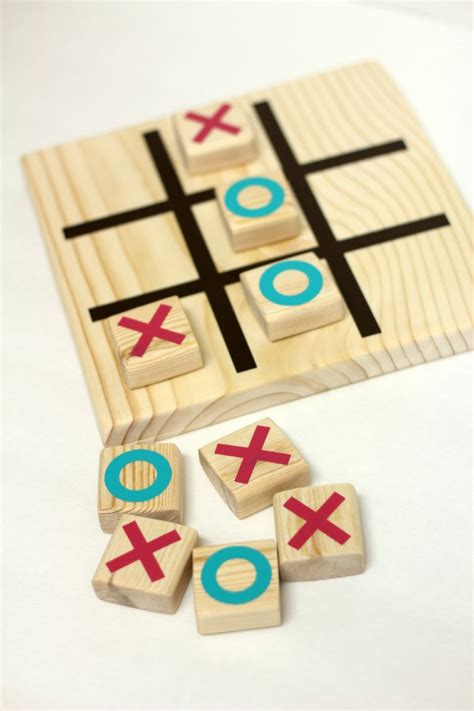 diy wooden games diy wooden tic tac toe game