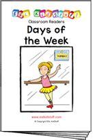 different days of week new classroom reader days of the week esl kidstuff