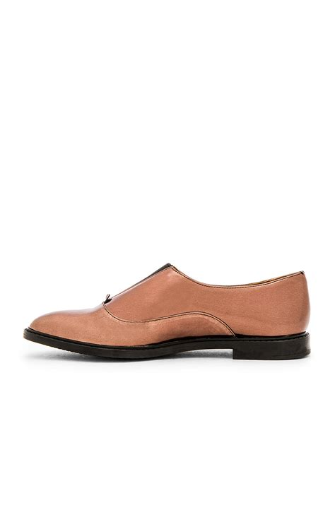 calvin klein oxford shoes calvin klein leather oxford shoes in brown lyst