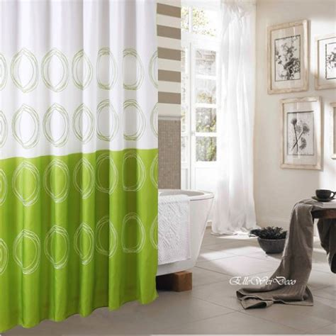 Green Shower Curtains by Best Lime Green Shower Curtain Fabric Or Plastic Shower