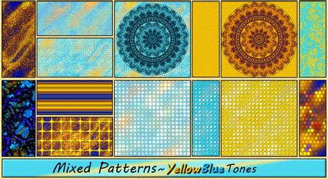 mixed patterns mixed patterns yellowblue tones by allison731 on deviantart